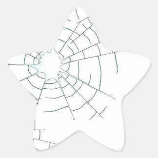 Bullet Holes in Glass Star Sticker