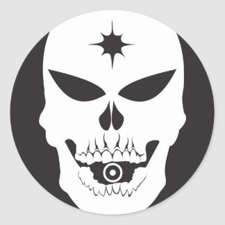 Bullet Skull Stickers