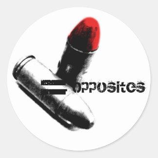 bullets alone, = Opposites Round Sticker