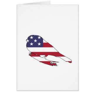 "Bullfinch ""American Flag"" Card"