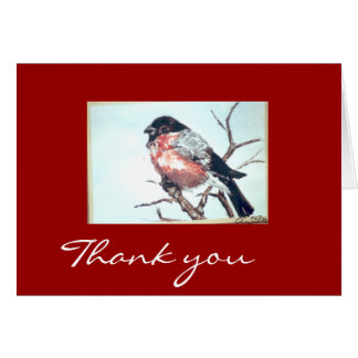 bullfinch - cathedral Pfaff Thank you Card