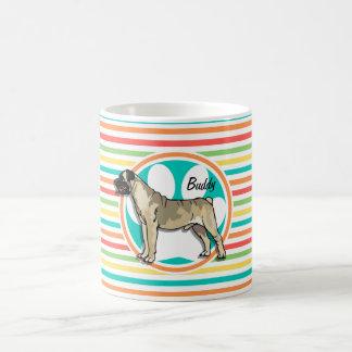 Bullmastiff Bright Rainbow Stripes Mug