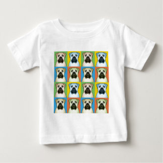 Bullmastiff Cartoon Pop-Art Baby T-Shirt