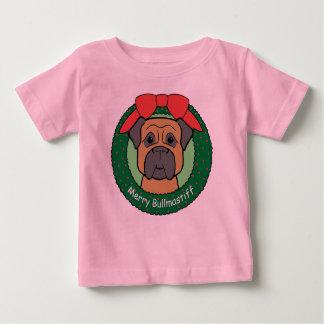 Bullmastiff Christmas Baby T-Shirt