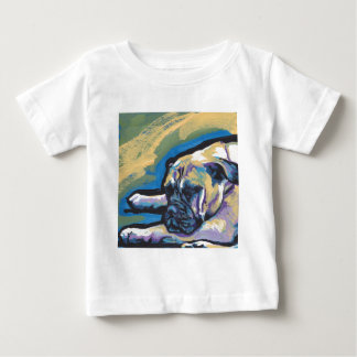 Bullmastiff Dog fun bright pop art Baby T-Shirt