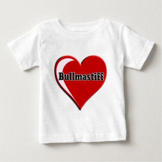 Bullmastiff on Heart for dog lovers Baby T-Shirt