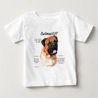 Bullmastiff (red) History Design Baby T-Shirt