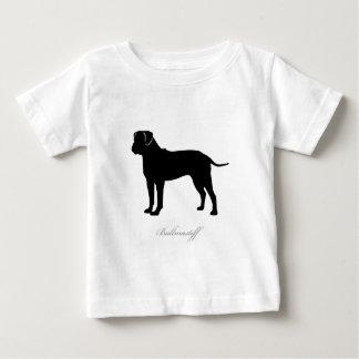 Bullmastiff silhouette baby T-Shirt