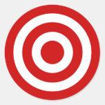 Bull's_Eye Round Stickers