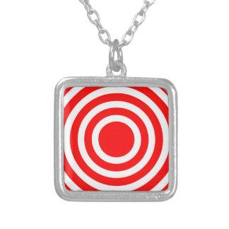 Bullseye Square Pendant Necklace