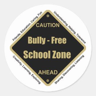 Bully - Free School Zone Classic Round Sticker
