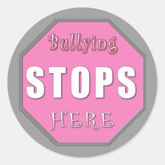 Bullying Stops Here Classic Round Sticker