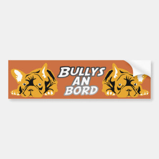 Bullys on board orange bumper sticker