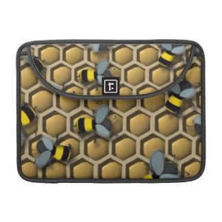 Bumble Bee Honeycomb Sleeve For MacBooks