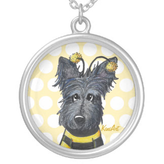 Bumble Bee Scottish Terrier Necklace