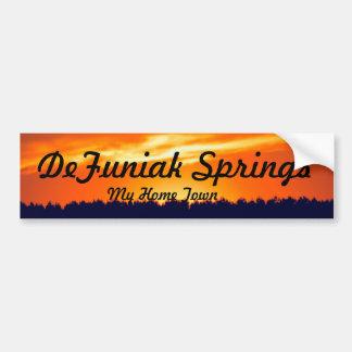 Bumper Sticker Depicting DeFuniak Springs, Fl