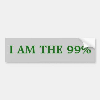 Bumper sticker: I am the 99% Bumper Sticker