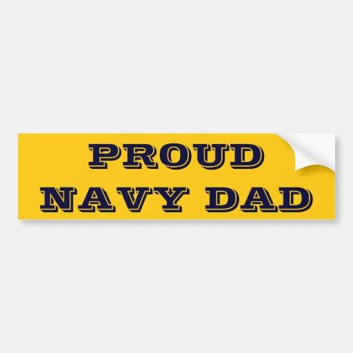 Bumper Sticker Proud Navy Dad
