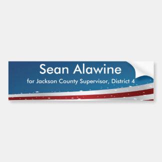 Bumper Sticker Supporting Sean Alawine