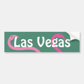 Bumper Sticker Visual Fun Las Vegas Pink Flamingos