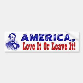 Bumper Stickers Flag America Love it or Leave it
