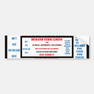 Bumper Stickers TERM LIMITS