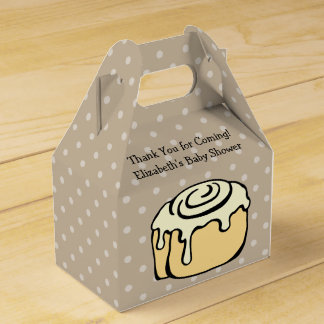 Bun in the Oven Cinnamon Roll Baby Shower Cute Wedding Favour Boxes
