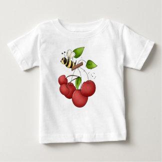 Bunch of Cherries Red Cherry and Bee Tee Shirt