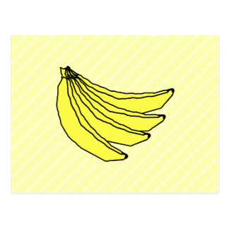 Bunch of Yellow Bananas. Postcard