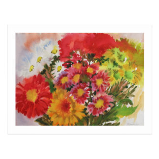 Bunch of Yellow Chrysanthemums Postcard
