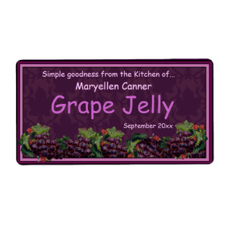 Bunches of Grapes for Jam or Jelly Jars