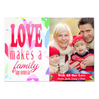 Bunches of Hearts Valentine's Day Photo Card 13 Cm X 18 Cm Invitation Card