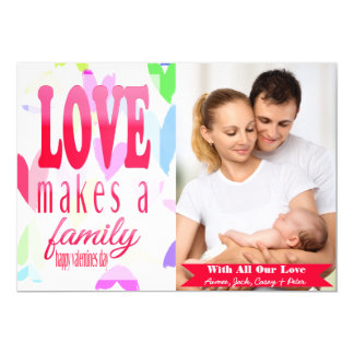 Bunches of Hearts Valentine's Day Photo Card