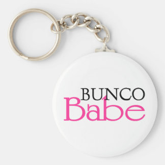 Bunco Babe Basic Round Button Key Ring