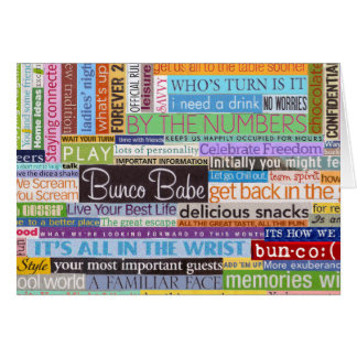 Bunco Babe Card