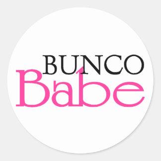 Bunco Babe Round Sticker