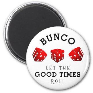 Bunco Game 6 Cm Round Magnet