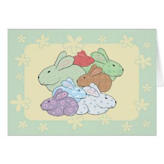 Bundle of Bunnies Baby Congratulations Card