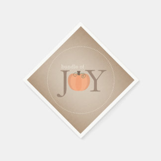Bundle Of Joy Pumpkin Fall Baby Shower Napkins Disposable Napkin
