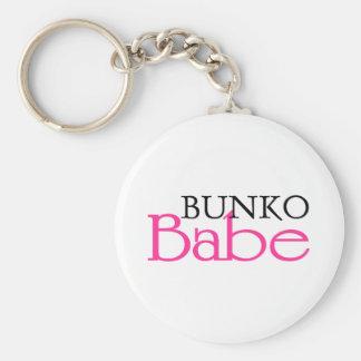 Bunko Babe Basic Round Button Key Ring