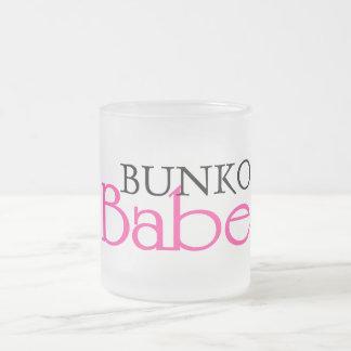 Bunko Babe Frosted Glass Mug