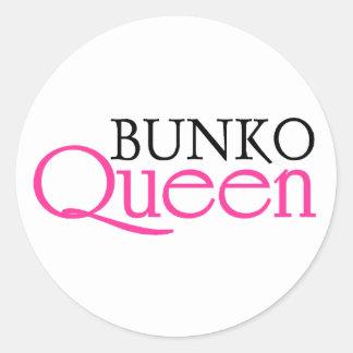 Bunko Queen Round Sticker