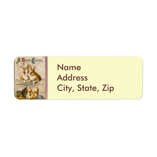 Bunnies and Chicks Return Address Label