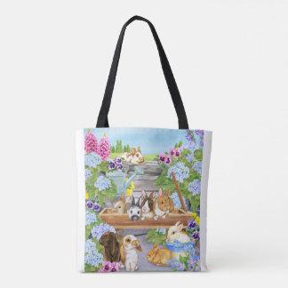 Bunnies in the Garden Tote Bag
