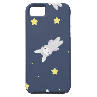 Bunny-astronaut in open space iPhone 5 cover