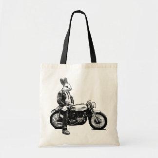 Bunny biker tote bag