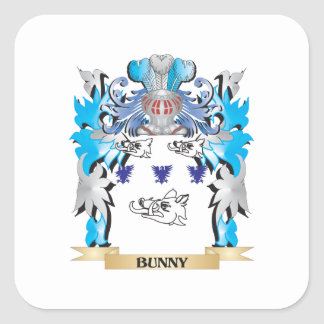 Bunny Coat of Arms Square Stickers