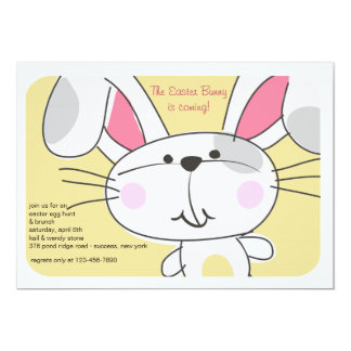 Bunny Face Invitation