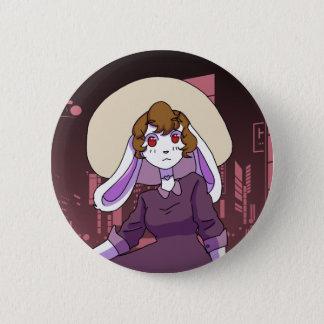 Bunny in the City 6 Cm Round Badge