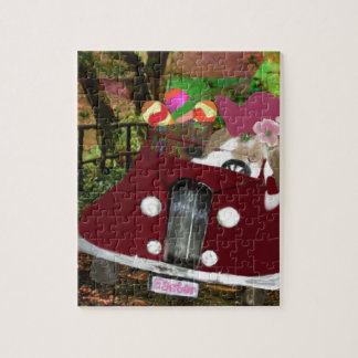 Bunny is carrying Easter eggs. Jigsaw Puzzle